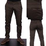 Модные мужские котоновые брюки 29-38 размер Турция Шоколад