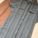 Платье рубашка в полоску next размер 18