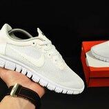 подростковые кроссовки NIKE Free Run 3.0 белые 36-40р