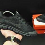 подростковые кроссовки NIKE Free Run 3.0 черные, синие, красные 36-40р