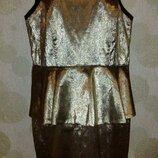 шикарное золотое платье на торжество