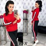 Спортивный костюм турецкая двунитка красный бордо серый розовый