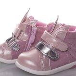 Стильные деми ботиночки зайки для девочки тм cibee рр.18 19 20 21 22 23