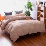 Элитное льняное постельное белье Пепельно розовый 320, лен
