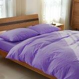 Элитное льняное постельное белье Сиреневый 527, лен