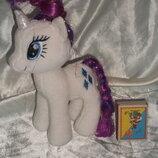 шикарная мягкая игрушка единорог Рарити My Little Pony TY Hasbro Сша оригинал 18 см