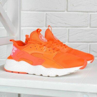 Кроссовки женские Nike Air Huarache Ultra Living Coral оранжевые с белым