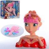 Кукла голова для причесок и макияжа манекен Frozen 2 вида 8977-AB