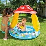 Надувной бассейн с навесом Гриб 102 89см 57114 Интекс Intex грибочек с надувным дном