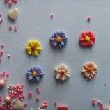 Сахарные цветы волошка для украшения кондитерских изделий, размер на фото. Цвета разные Цена за 4 шт