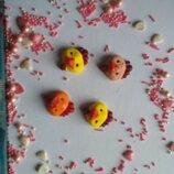 Сахарные курчата для украшения кондитерских изделий, размер на фото. Цвета разные Цена за 3 шт.- 1 г