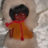 роскошная маленькая куколка эскимоска Quebec doll Канада оригинал клеймо 10 см