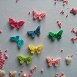 Сахарные бабочки маленькие для украшения кондитерских изделий, размер на фото. Цвета разные Цена за