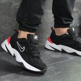 Мужские кроссовки Nike M2K Tekno,замшевые,черно-белые