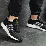 Мужские кроссовки Adidas Iniki,сетка,черно-белые