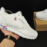 мужские кроссовки Reebok Classic 41-46р черные и белые 2цвета