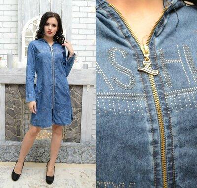45c127dcb6a Платье джинс коттон Турция 42-50 размеры 2 вида  620 грн - женские ...