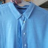 бомбезная рубашка под джинсы MARKS&SPENSER,большой размер