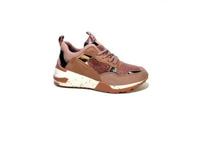 Кроссовки женские, розовые, на платформе, танкетке, для бега. Размер 36-40.