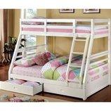 Акция Белая кровать Кайли с ящиками