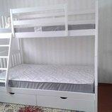 Акция Белая кровать Дакота с ящиками