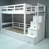 Акция Белая кровать Остин с ящиками под кровать