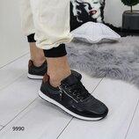 Клевые кроссовки, черные, синие