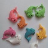 Сахарные дельфинчики для украшения кондитерских изделий. размер на фото. Цена за 5 шт.- 1 грн. Цвет