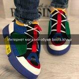 Кроссовки в стиле Essence Яркие кеды кроссовки разноцветные весна лето