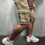 Стильные мужские горчичные шорты