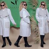 Новиночки Классное пальто,- деми размеры 48- 62