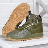 Кроссовки женские Nike Lunar Force 1 Duckboot Medium Olive хаки оливка