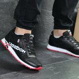 Мужские кроссовки Reebok черно-белые с красным