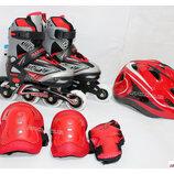 Роликовый комплект Combo Set Soft red, 27-30, 31-34, 35-38, 39-42 ролики