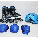 Ролики Combo Set Soft bleu , 27-30, 31-34, 35-38, 39-42 роликовые коньки