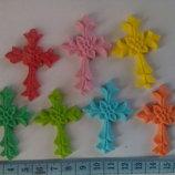 Сахарные крестики для украшения кондитерских изделий. размер на фото. Цена за 2 шт.- 3 грн. Цвета р
