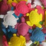 Сахарные черепашки для украшения кондитерских изделий. размер на фото. Цена за 1 шт.