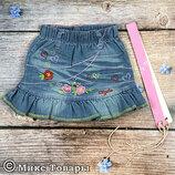 Классные джинсовые юбки р.2-3 года