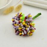 10 шт. Тычинки сложные с сахарными, глянцевыми и пенопластовыми ягодками и листиками.