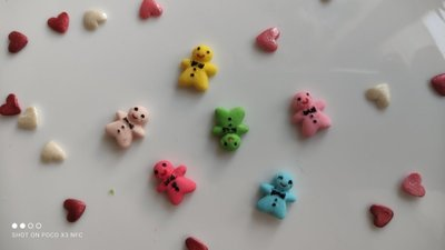 Сахарные пряничные человечки для украшения кондитерских изделий. размер на фото. Цена за 4 шт.- 1 г