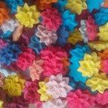 Сахарные цветы георгины для украшения кондитерских изделий. размер на фото. Цена за 3 шт.- 1 грн.