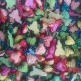 Сахарные сердечки с бантиком для украшения кондитерских изделий. размер на фото. Цена за 4 шт.- 1 г