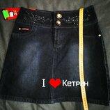 Новая теплая джинсовая юбка