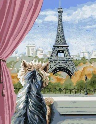 Картина по номерам. Brushme Париж из окна GX5611
