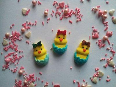 Сахарные цыплята для украшения кондитерских изделий , Цена 1 шт.- 1 грн.