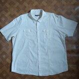 Мужская рубашка большой размер батал лён льняная George размер XXXL / 56-58рр