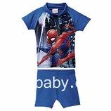 Купальный костюм, плавки детские на мальчика Spider Man 6-12 мес, рост 74/80