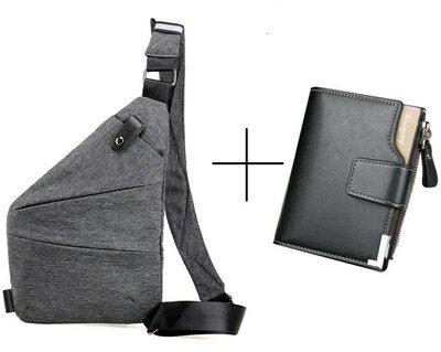 Набор сумка через плече Cross Body кошелек Baellerry Business Mini