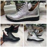 Ботинки,туфли на низком ходу 36 - 41 натуральная кожа