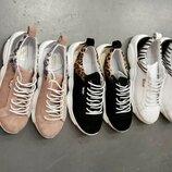Распродажа Стильные натуральные кожаные женские кеды кроссовки энимал принт